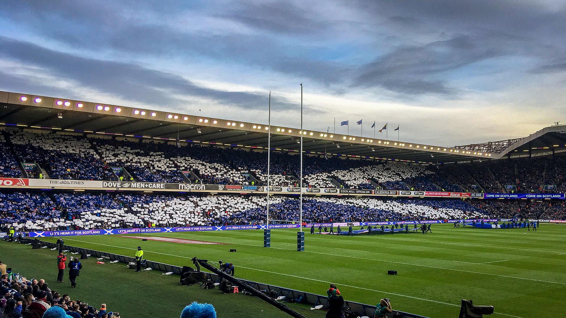 Watch a game of rugby in Edinburgh, Scotland