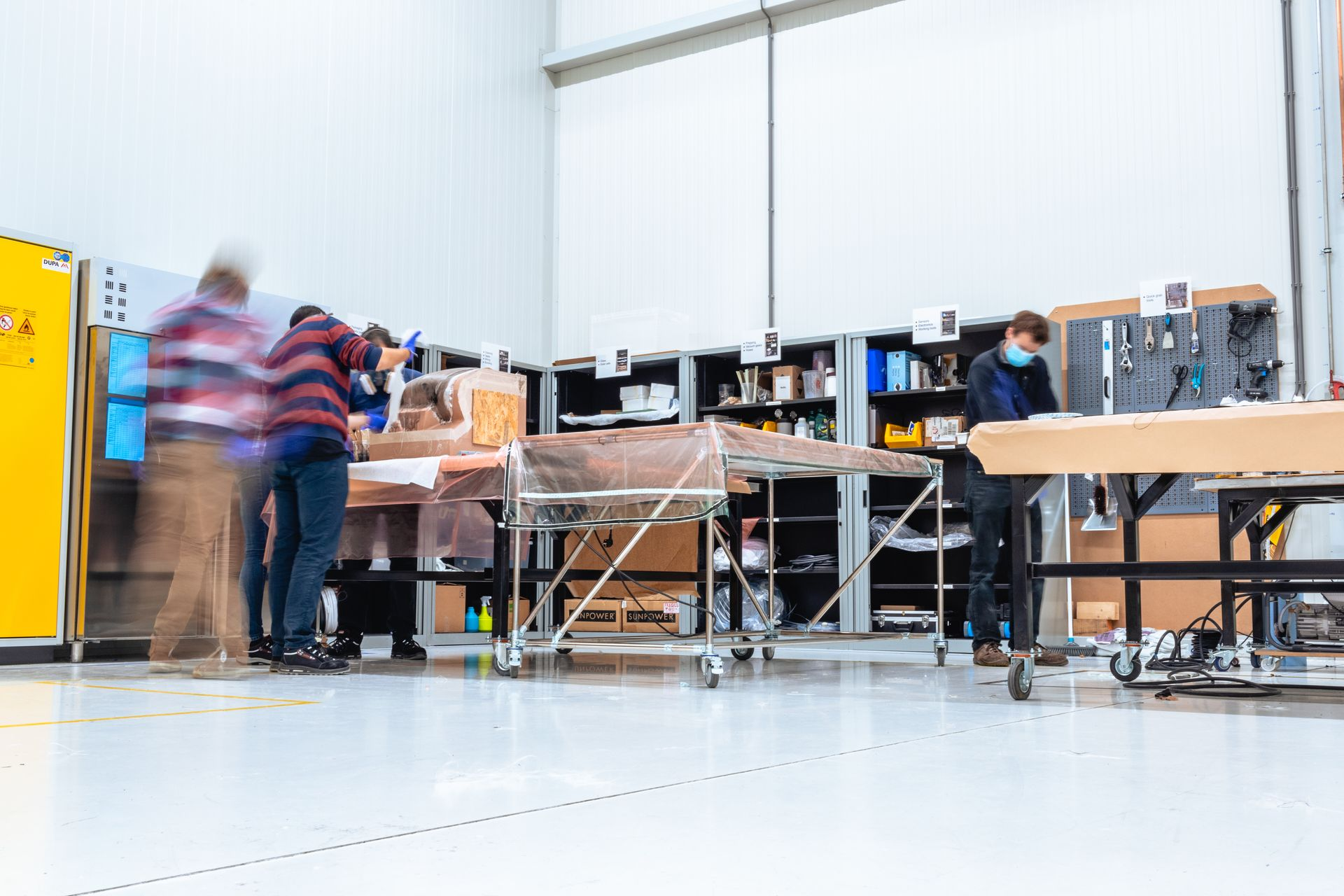 Inside the workspace of Lightyears' lab