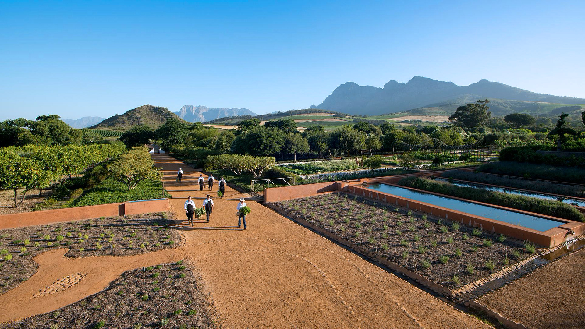 Lightyear One journeys at Babylonstoren, Franschhoek, in South Africa