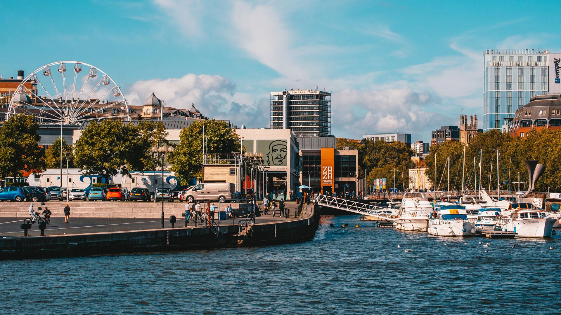 Bristol Harbour on the Avon river