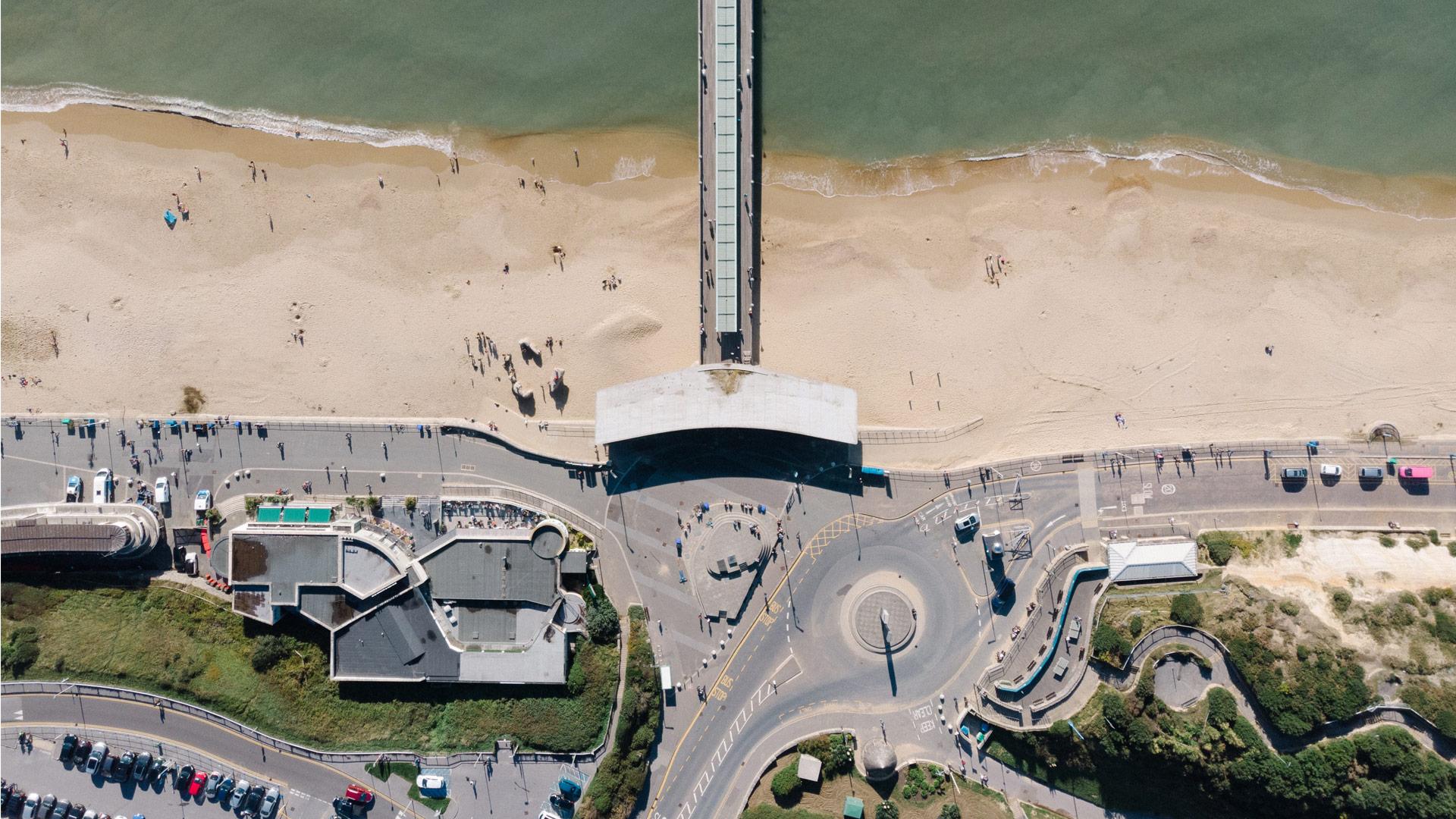 Coastal view of Bournemouth