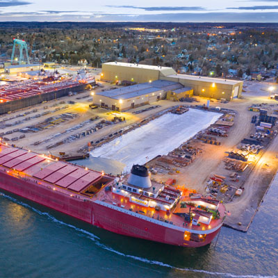 Economic Activity image of freight ship in Sturgeon Bay
