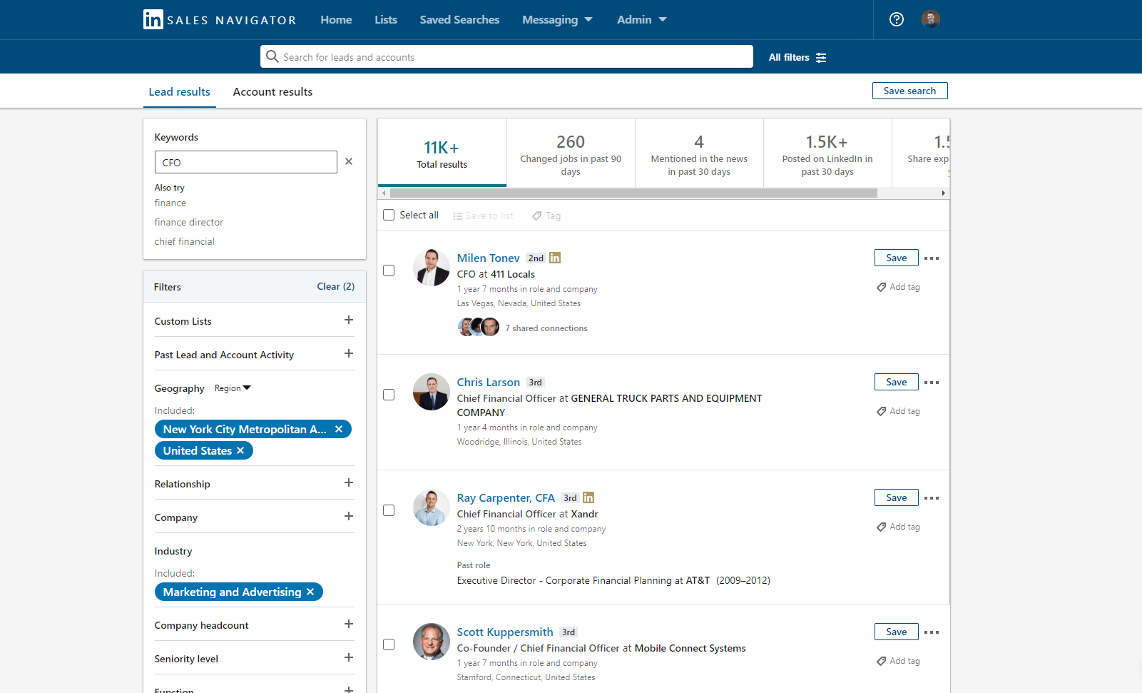 Sales Navigator for cold outreach