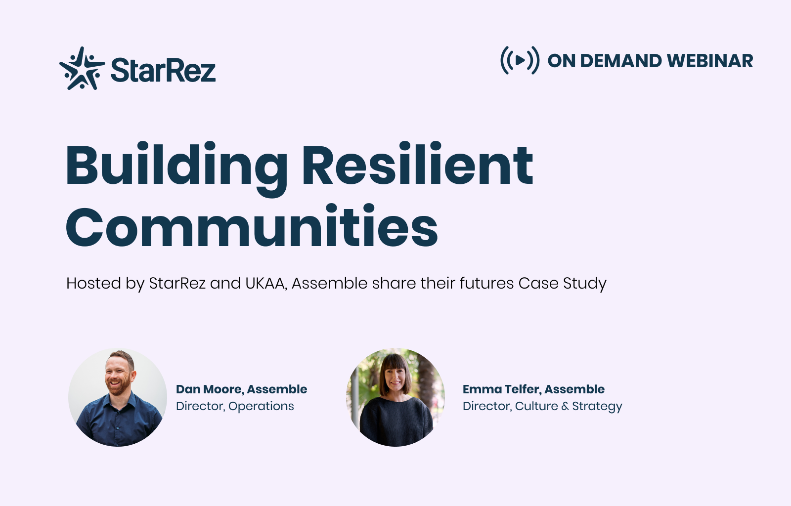 Assemble and UKAA webinar - Building Resilient Communities