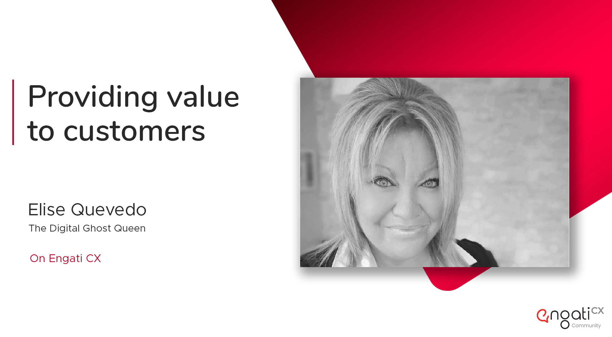The art of providing value to consumers | Elise Quevedo | Engati CX