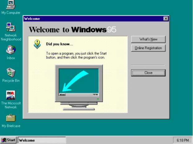 Microsoft Windows 95 Interface