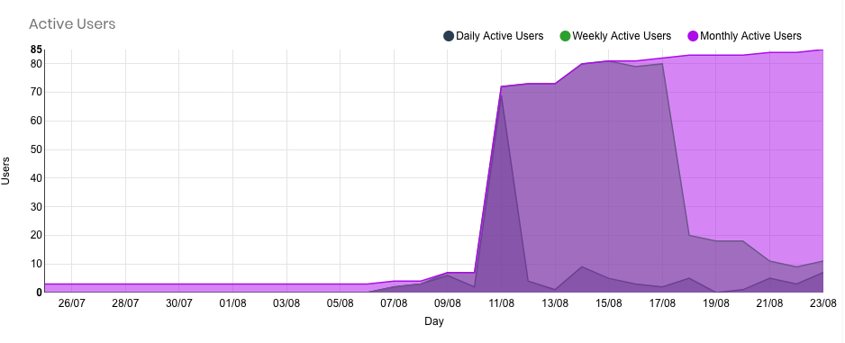 Active users infographic