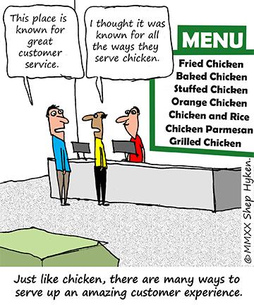 Shep Hyken customer experience cartoon