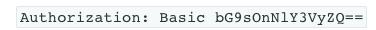 Basic authentication header
