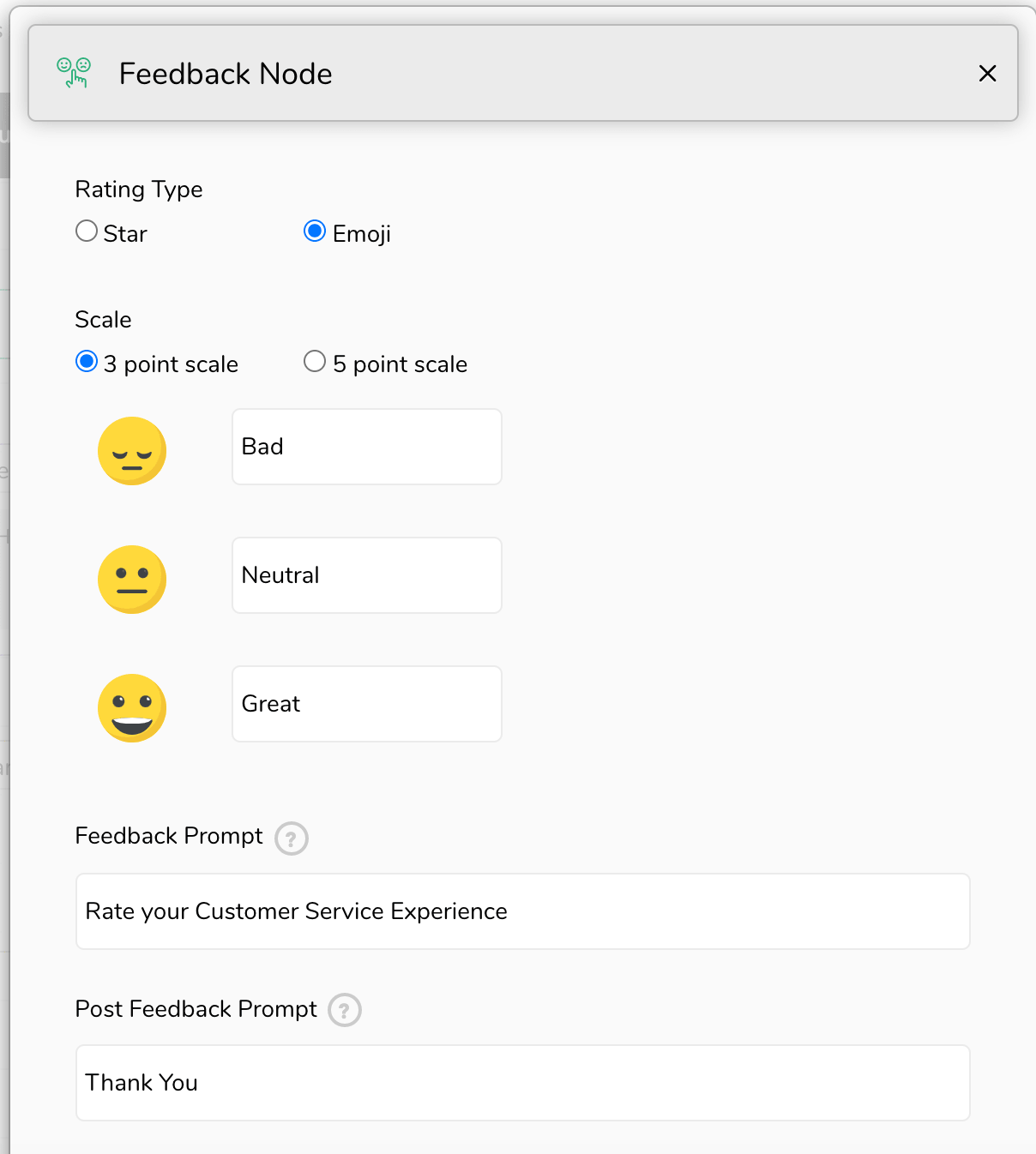 Feedback collection in Engati Live Chat