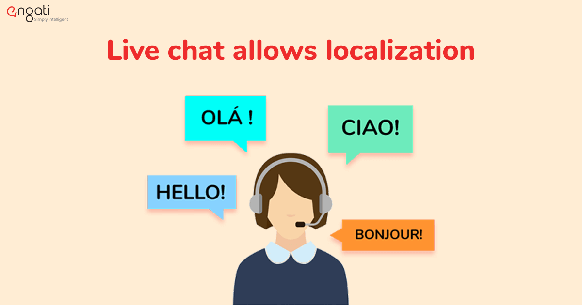 Live chat allows localization and is multilingual