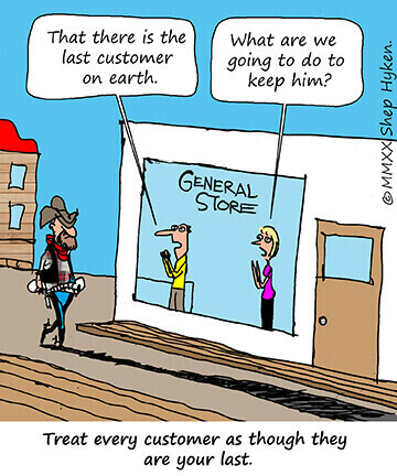 The last customer on earth comic strip