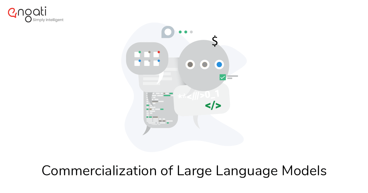 Commercialization of large language models