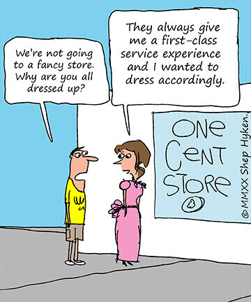 Customer will pay for better customer experience- Cartoon image