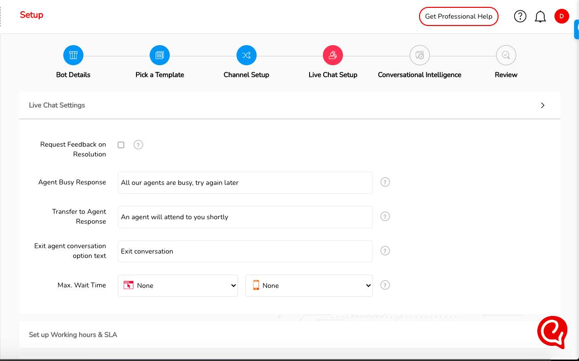 Telegram Live Chat setup