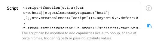 script website code snippet