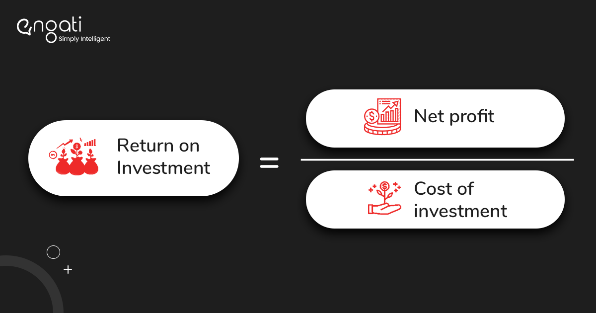 net profit divided by cost investment is your ROI