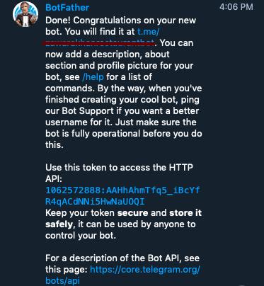 Telegram bot Access Token