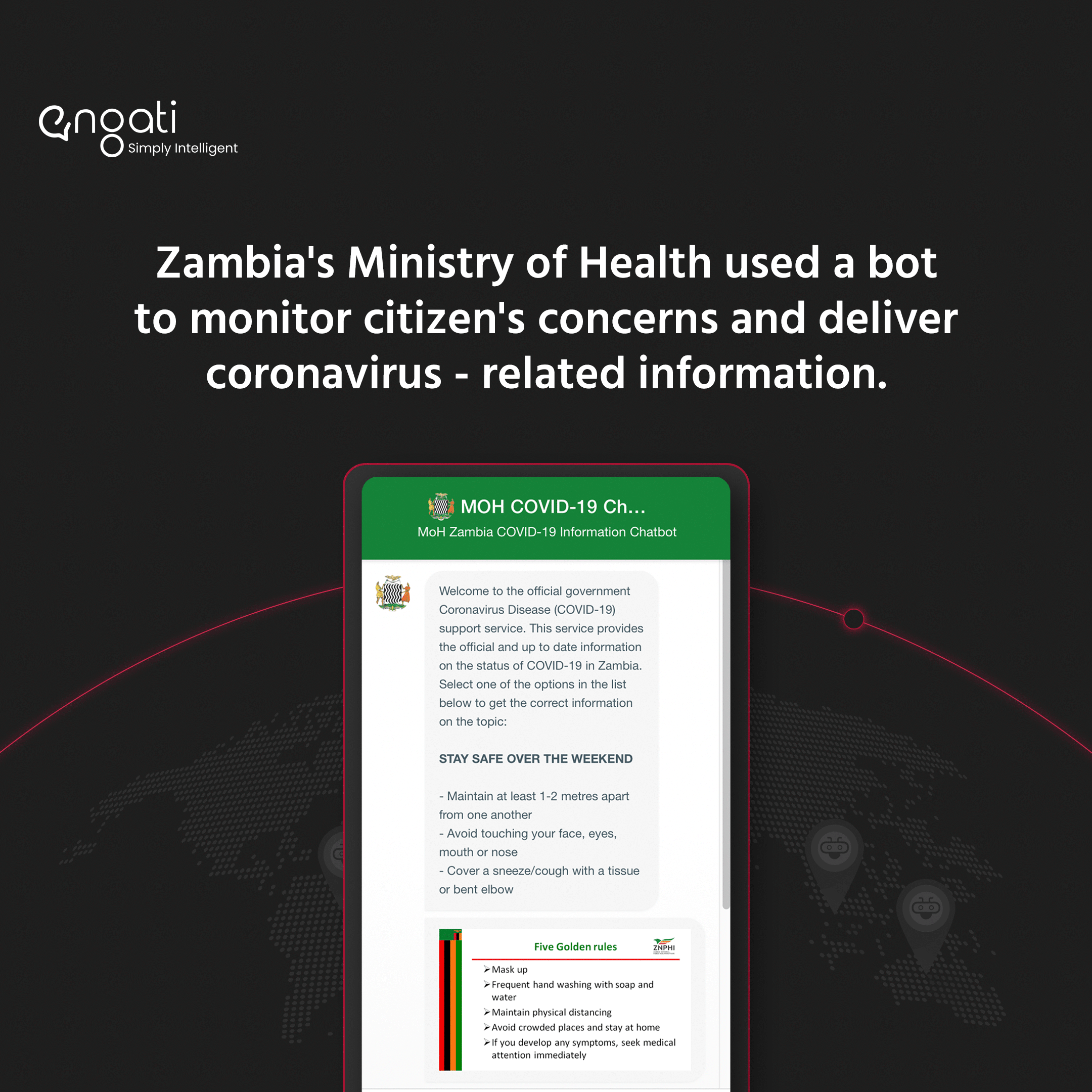 How the Zambian Ministry of Health delivers COVID-related information