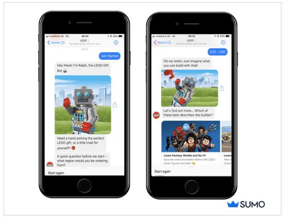 Lego gift chatbot