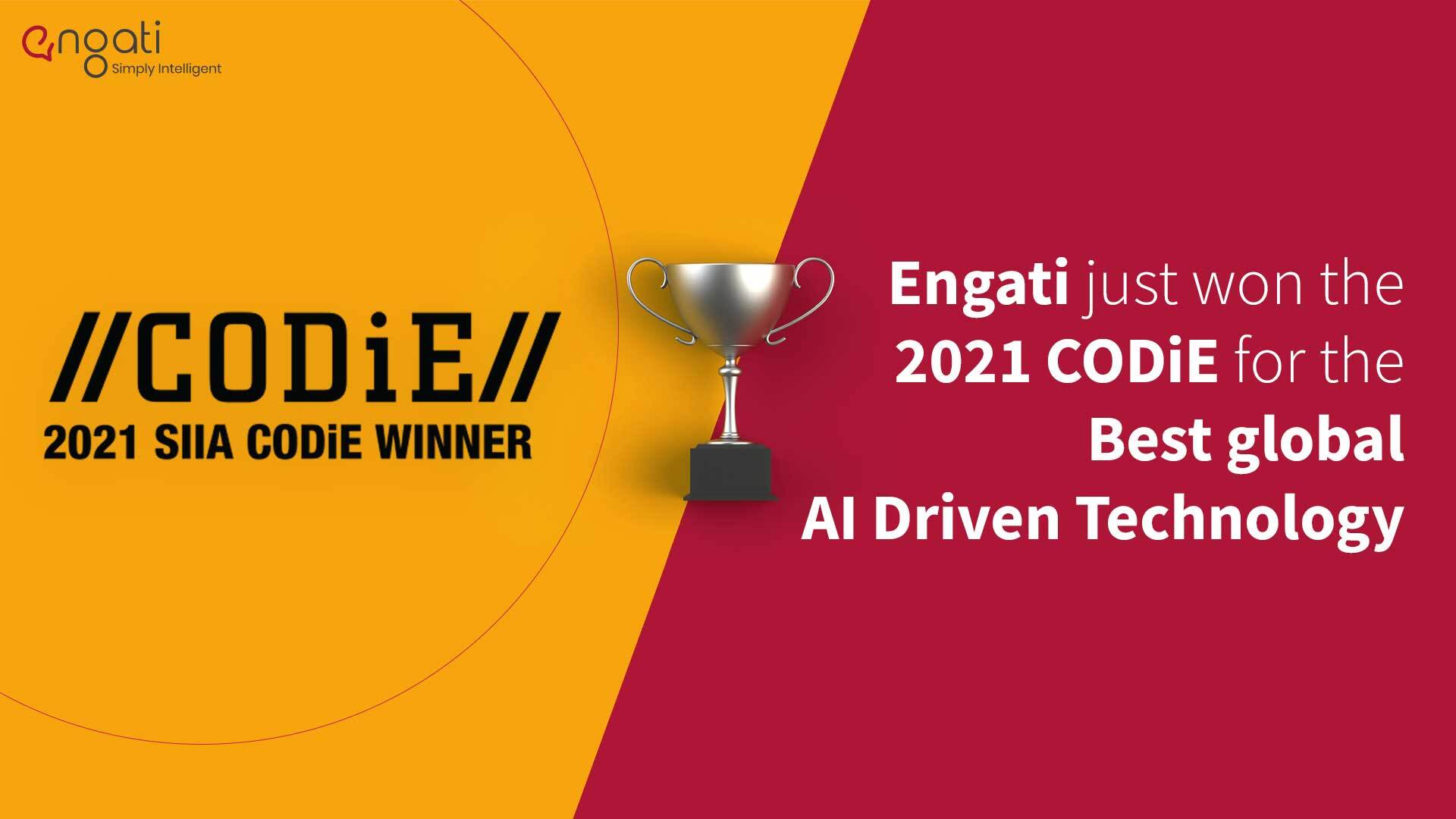 Engati crowned winner of 2021 CODiE Awards for Best AI-Driven Technology Solution
