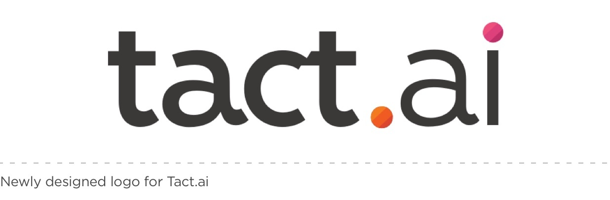 Newly designed logo for Tact.ai