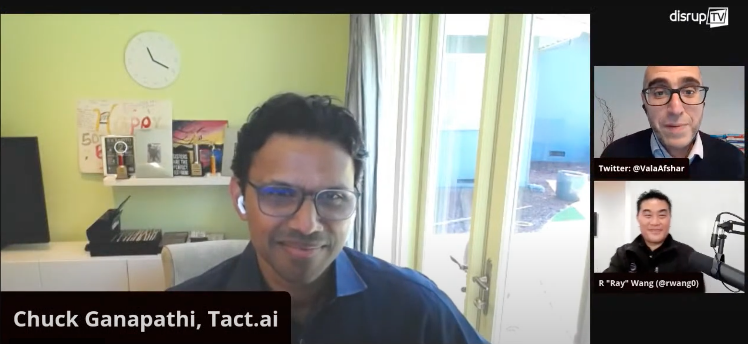 Tact CEO, Chuck Ganapathi's  interview with Disrupt TV