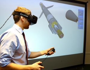 Jumping into an immersive virtual environment with the Oculus Rift