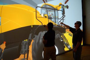 Immersed users at CNH explore and interact with the giant VR model