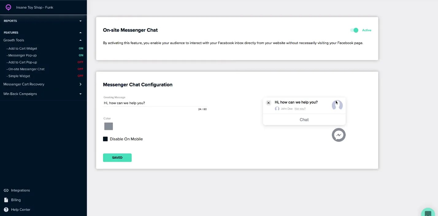 flashchat messenge chat configuration