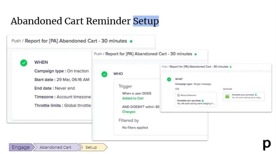 Plobal automated push notification campaign setup