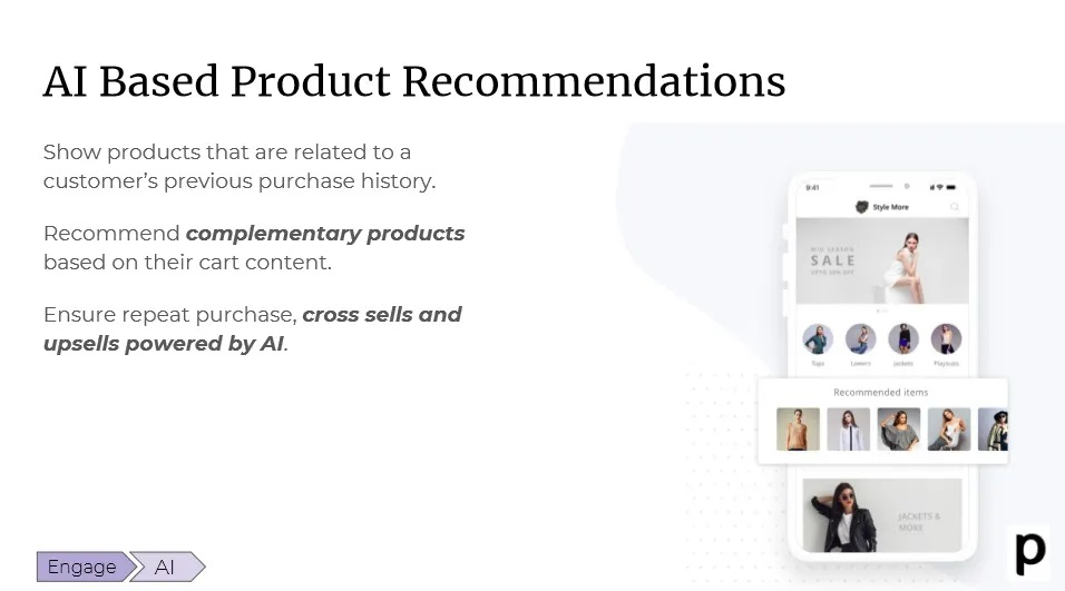 Plobal AI based product recommendations