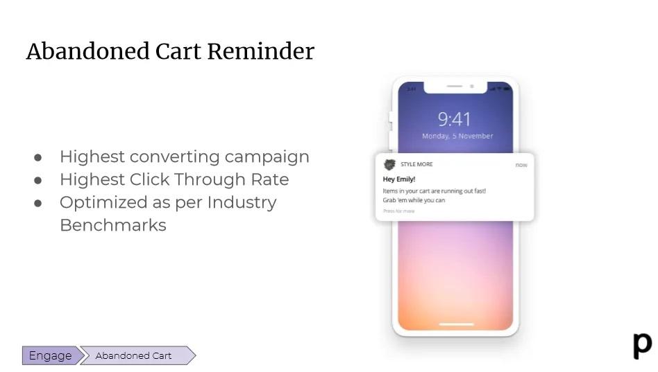 Plobal abandoned cart reminder