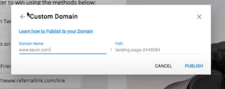 Wishpond Custom Domain Example