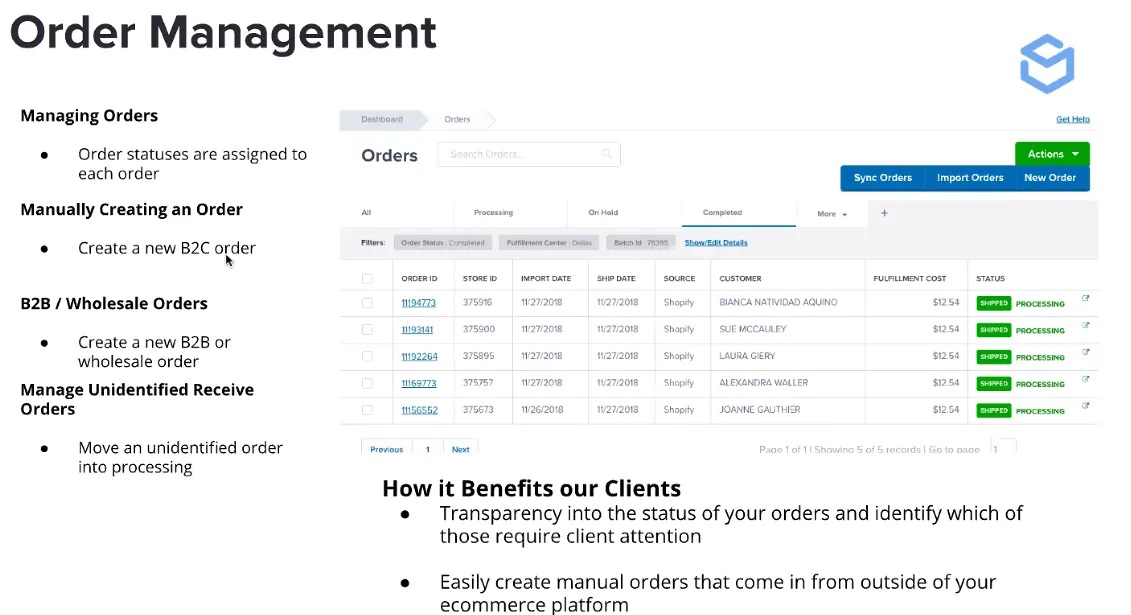 Shipbob order management and how it benefit the clients