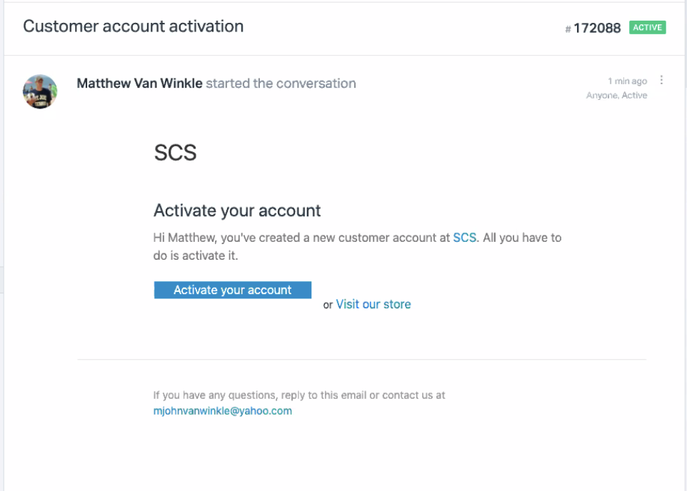 Mesa_Customer Account Activation