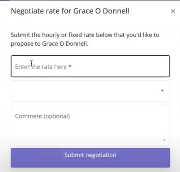 Freeup Negotiate Rate