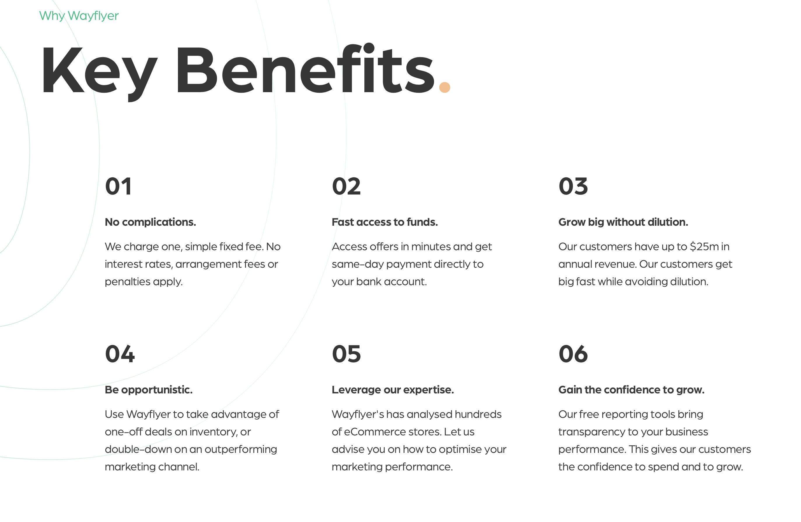 Wayflyer_Key Benefits