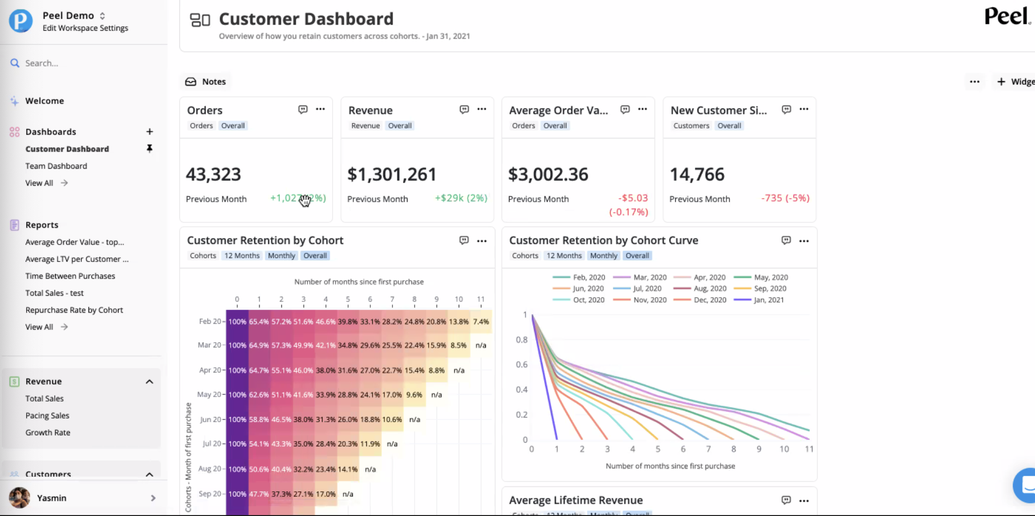 Peel Insights Customer Dashboard