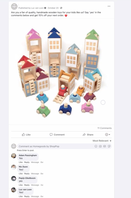 ShopPop Facebook Integration