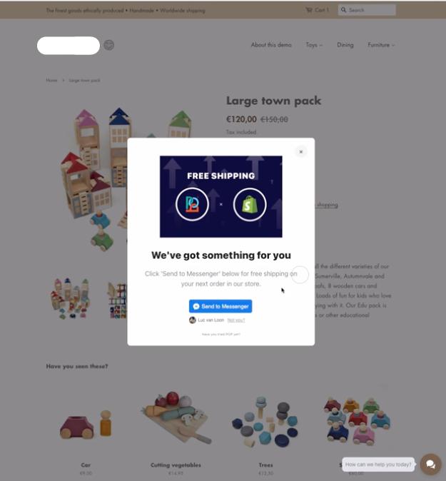 ShopPop Offer Pop-up
