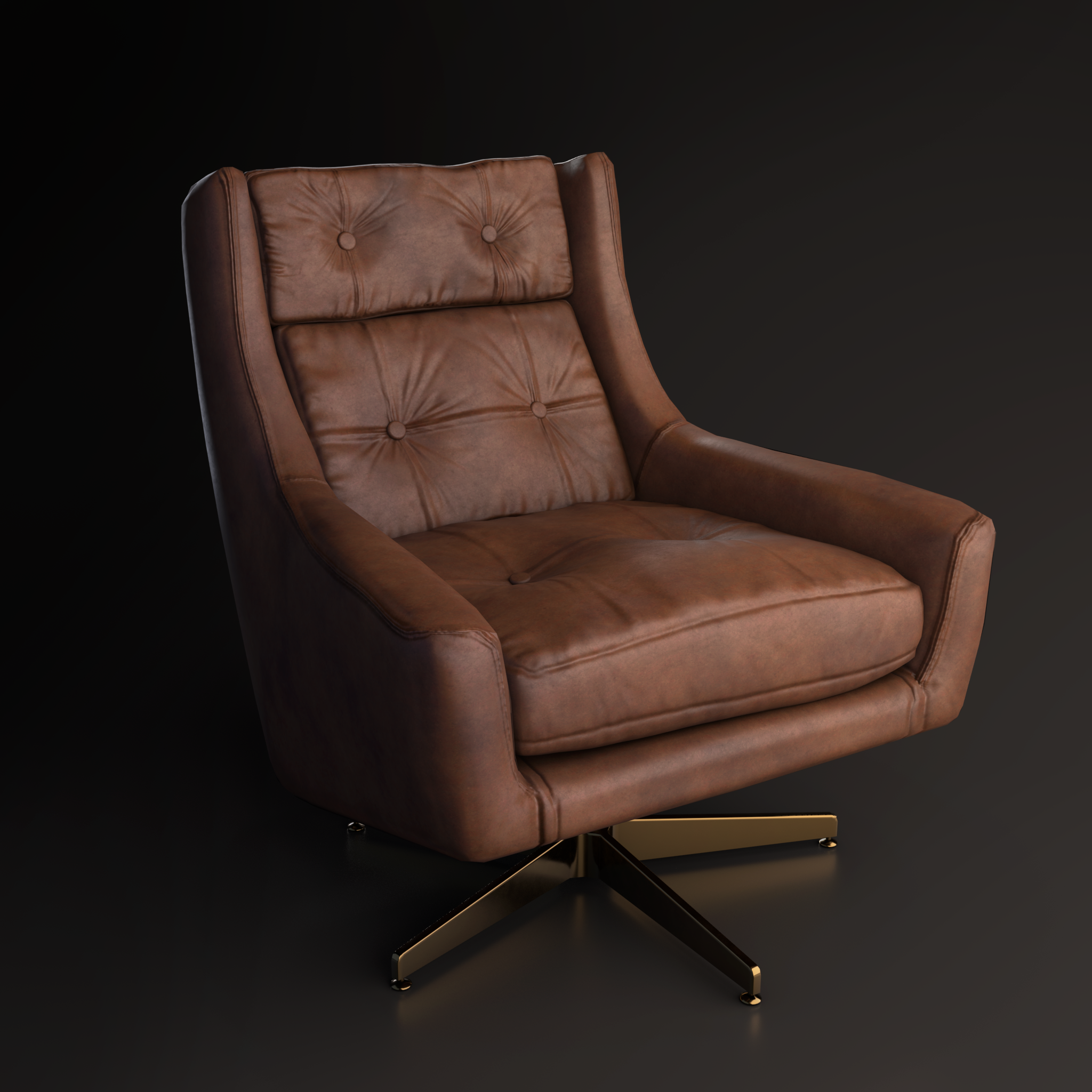 levAR RH Leather Chair Render