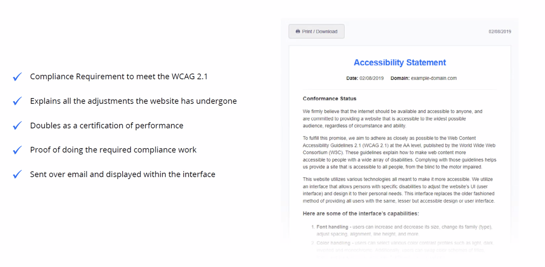 accessiBe accessibility statement
