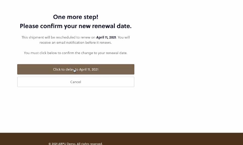 Arpu Confirm Renewal Date