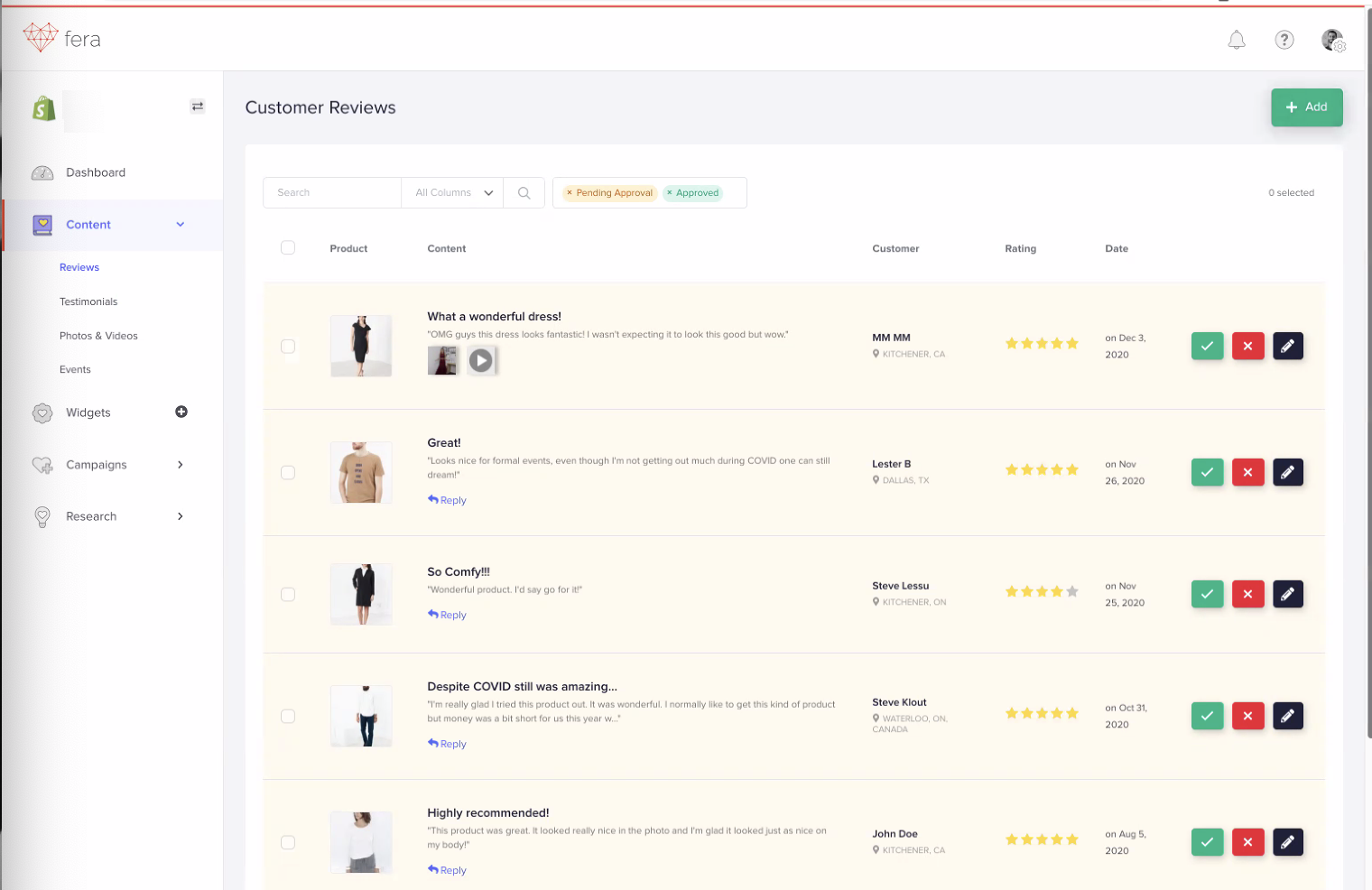 Fera_Customer Reviews