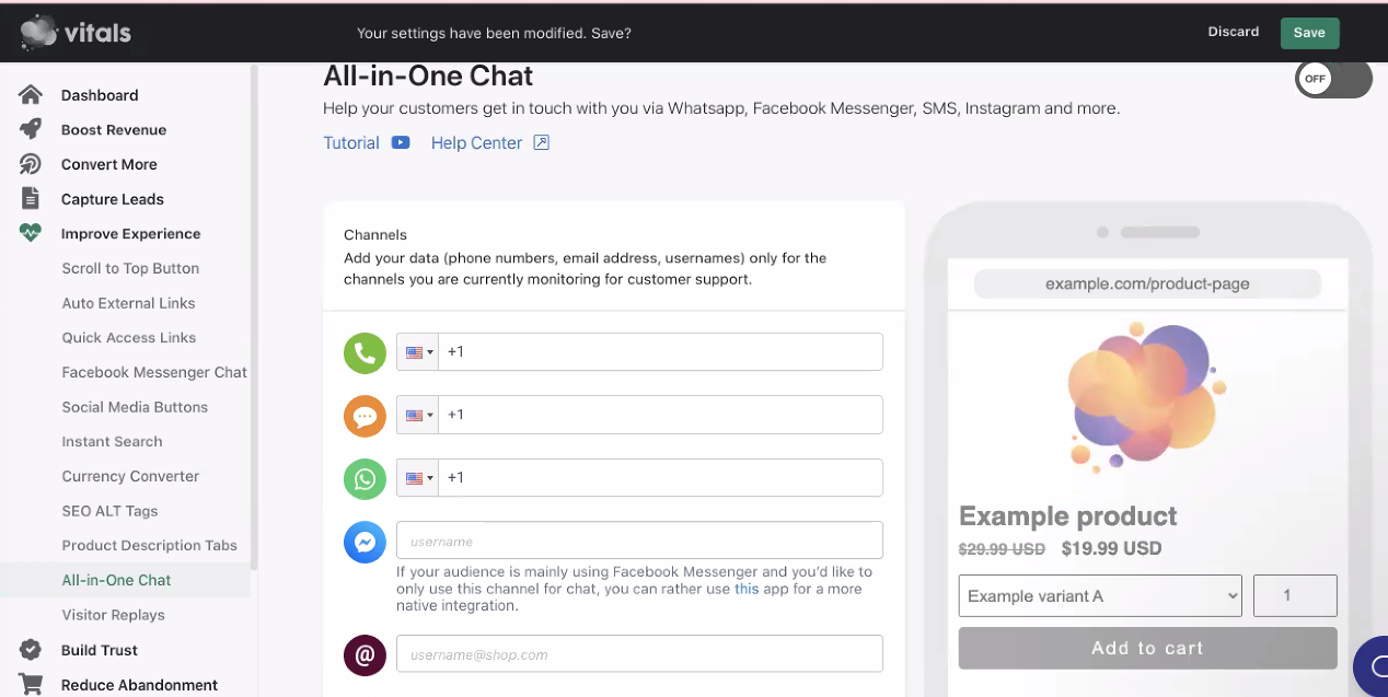 Vitals All-in-One Chat