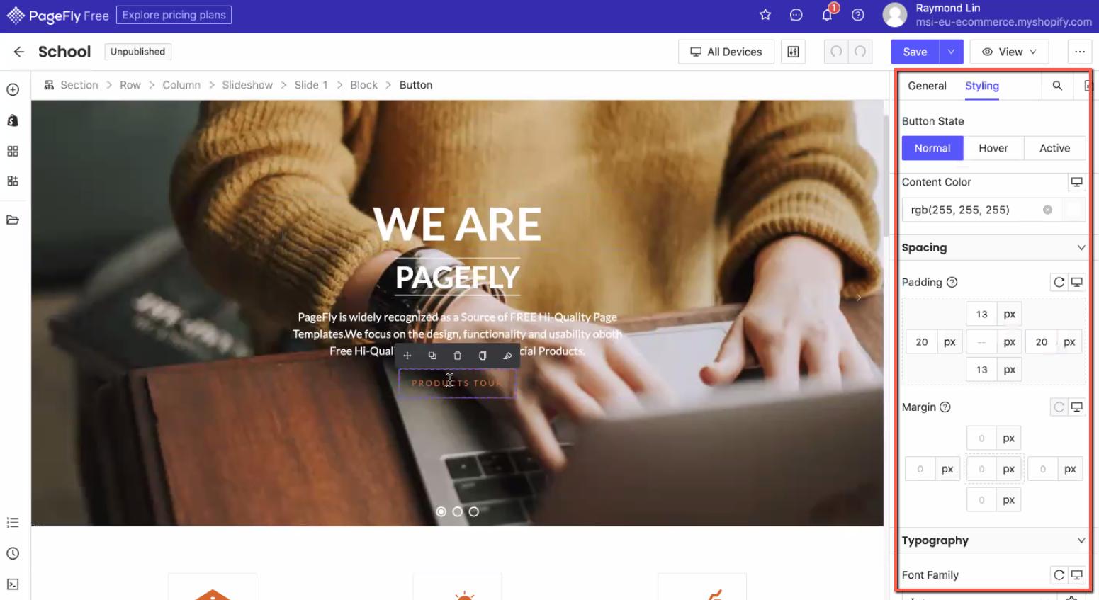 PageFly Element Customization and Styling Flexibility