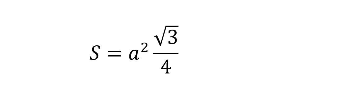 Công thức tính diện tích tam giác đều
