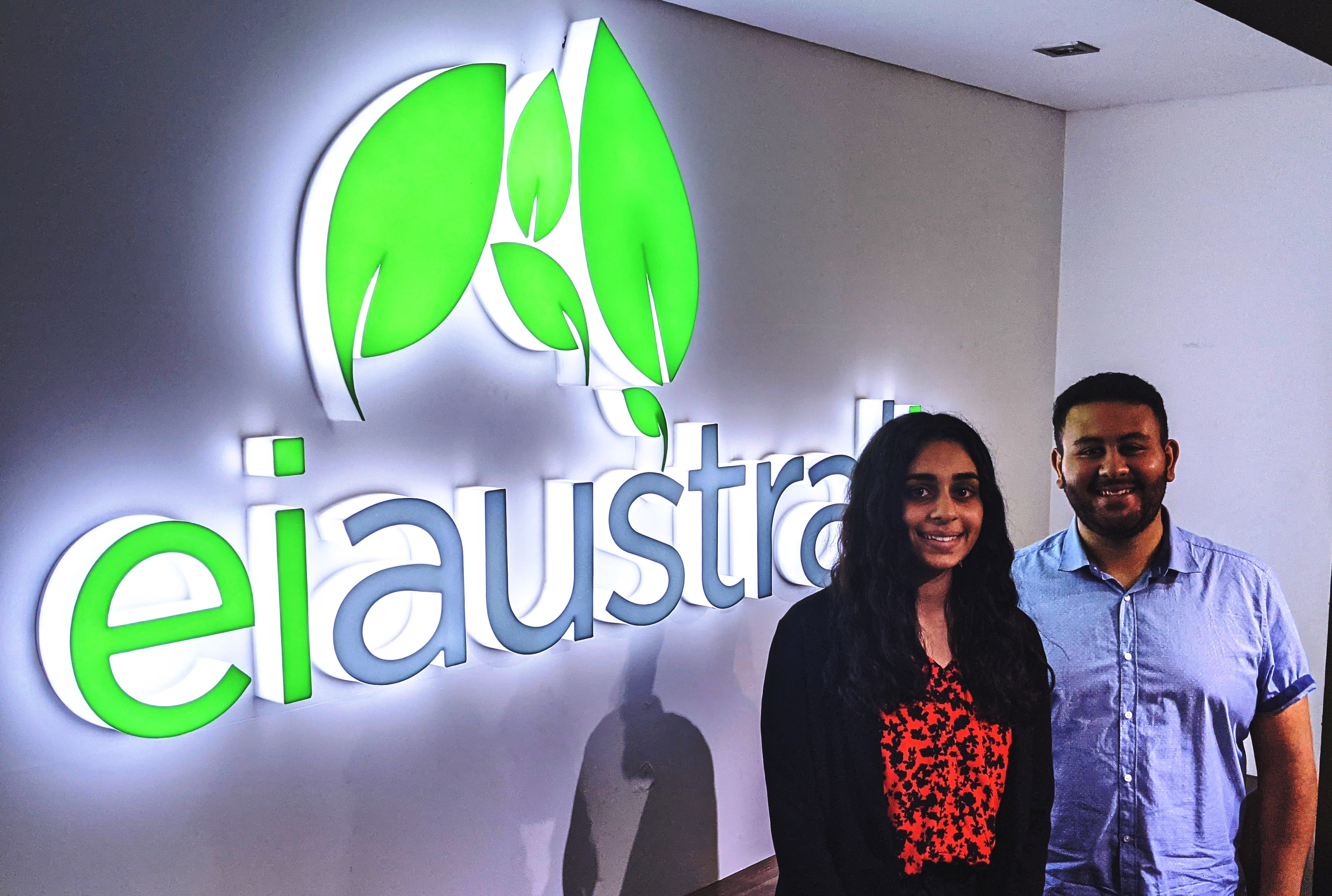 New Interns Learn the Ropes at EI Australia