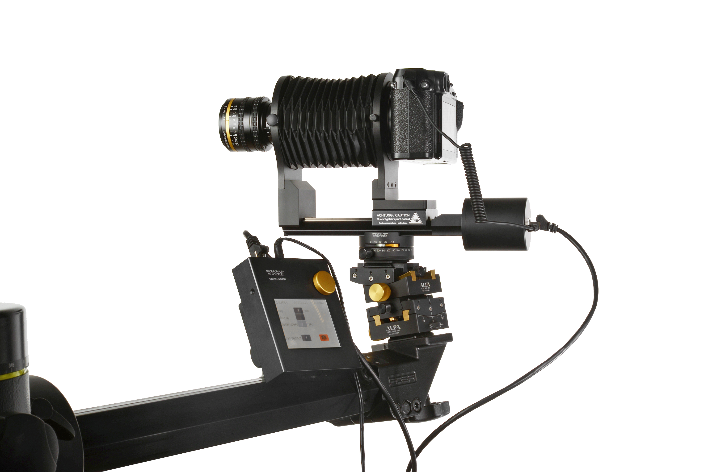 Extremely compact and smart - Shown here as ALPAStitching Solution on ALPA GON modular Tripod Head